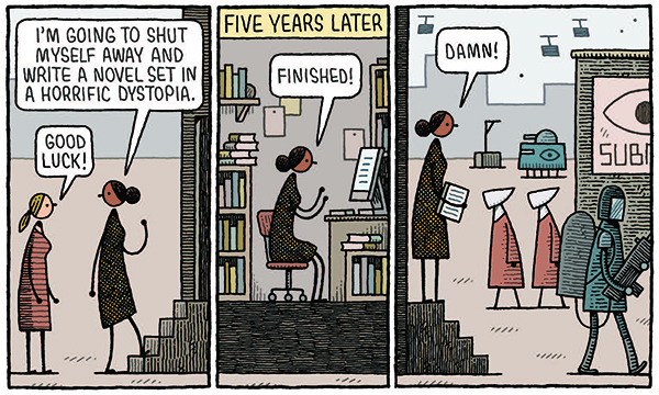 Interview: Tom Gauld and his Shareable Collection, 'The Snooty Bookshop'.